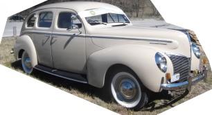 Lady 1940 Mercury Eight